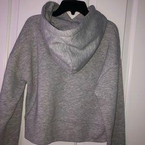 grey cropped Zara hoodie